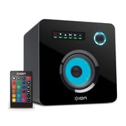 ION Audio iSP40 Flash Cube Bluetooth Speaker with Remote Control and Ambient Lighting, Black