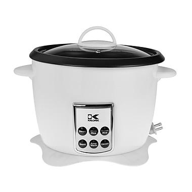 Kalorik – Cuiseur à riz numérique multifonctions avec cordon d'alimentation rétractable, blanc