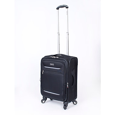 Ricardo Beverly Hills Santa Barbara Expandable 4-Wheel Spinner Luggages, Black