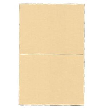 JAM Paper® – Cartes de repli, 4,25 po x 5,5 po, caramel métallique curieux, paq./50