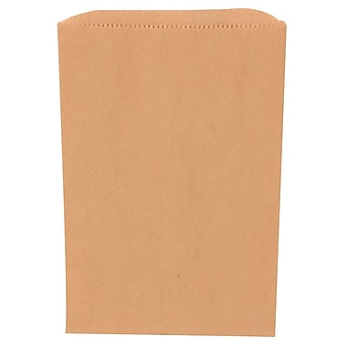 JAM Paper® Merchandise Bags, Small, 6.25 x 9.25, Brown Kraft Recycled, 1000/Pack (342126842)