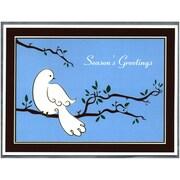 JAM Paper® – Boîte de cartes de Noël, motif de colombe blanche, format C, paq./50 cartes et enveloppes