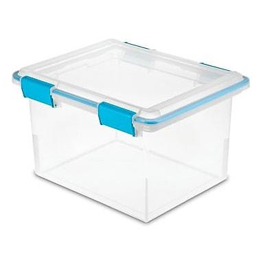 Sterilite - Bac étanche (14246) de 30 litres, 18 1/2 long. x 14 7/8 larg. x 11 1/8 haut. (po), aquarium bleu