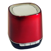 "Exian-Aneex Bluetooth Speaker Round Shape 2"" X 2"" X 2.5""H Red"
