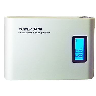 Exian Power Bank 8800mAh with 2 USB Ports, White
