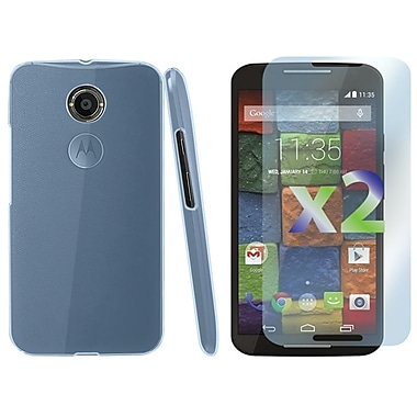 Exian Case for MOTO X2, Transparent Blue