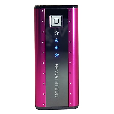 Exian Power Bank 5200mAh, PB-023_ANX, Pink