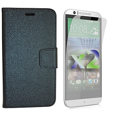 Exian Case for Desire 510 Wallet, Black