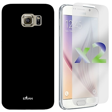 Exian Case for Galaxy S6, Plain, Black
