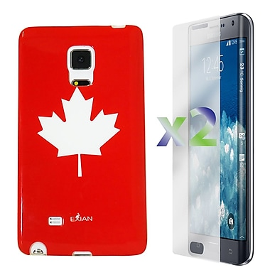 Exian Case for Note Edge Maple Leaf, Red