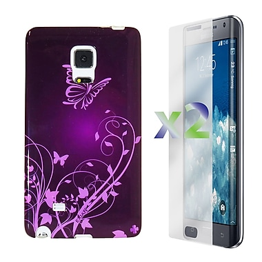 Exian Case for Note Edge Flowers and Butterflies, Purple