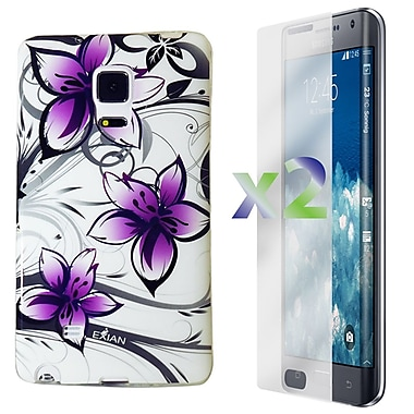 Exian Case for Note Edge Floral Pattern, Purple/White