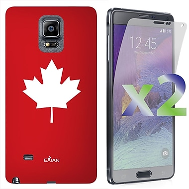 Exian Case for Note 4 Maple Leaf, Red