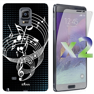Exian Case for Note 4 Musical Notes, Black