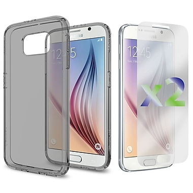 Exian Case for Galaxy S6, Transparent Case, Grey