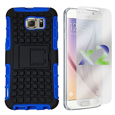 Exian Case for Galaxy S6 Armored Case with Stand, Blue