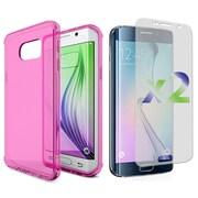 Exian Case for S6 Edge Transparent Case, Pink