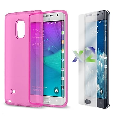 Exian Case for Note Edge Transparent Case, Pink