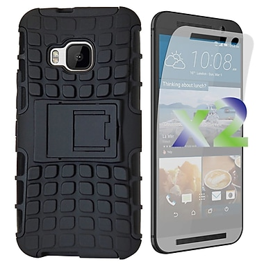 Exian Case for HTC One M9, Armored with Stand, Black