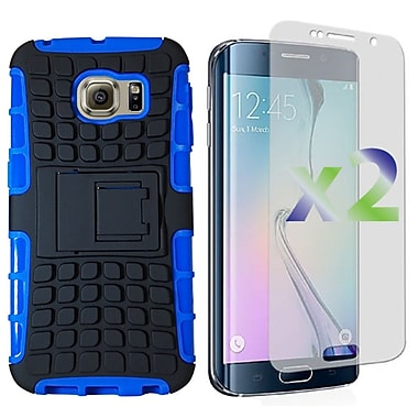 Exian Case for S6 Edge Armored with Stand, Blue