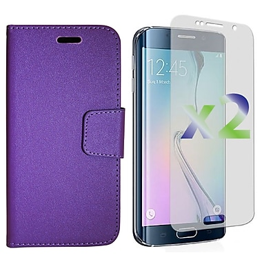 Exian Case for S6 Edge Wallet, Purple