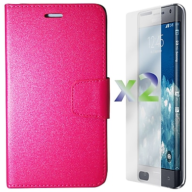 Exian Case for Note Edge Wallet, Hot Pink