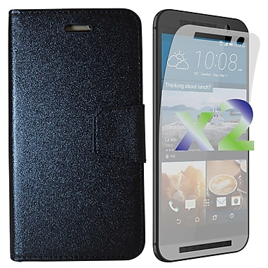 Exian Case for HTC One M9 Wallet, Black