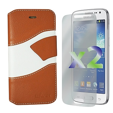 Exian Case for Core LTE Wallet Wave Pattern, Beige and Whit