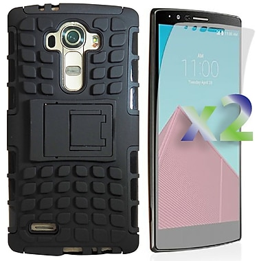 Exian Case for LG G4 Armoured Case with Stand, Black