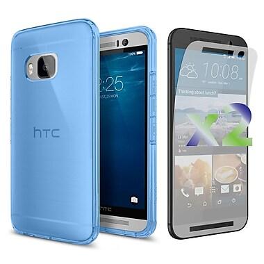 Exian Case for HTC One M9, Transparent Blue