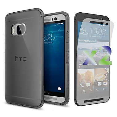 Exian Case for HTC One M9, Transparent Grey