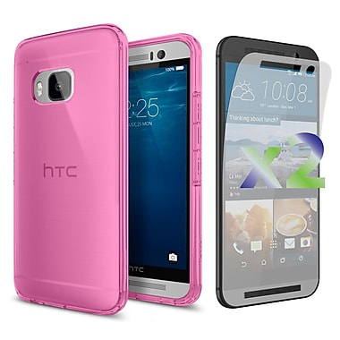 Exian Case for HTC One M9, Transparent Pink