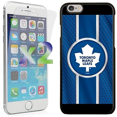 Exian NHL Case for iPhone 6 and Screen Protector, 2 Pieces, Toronto Maple Leafs
