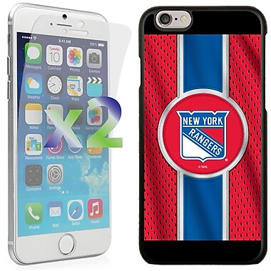 Exian NHL Case for iPhone 6 and Screen Protector, 2 Pieces, New York Rangers