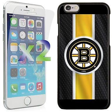 Exian NHL Case for iPhone 6 and Screen Protector, 2 Pieces, Boston Bruins