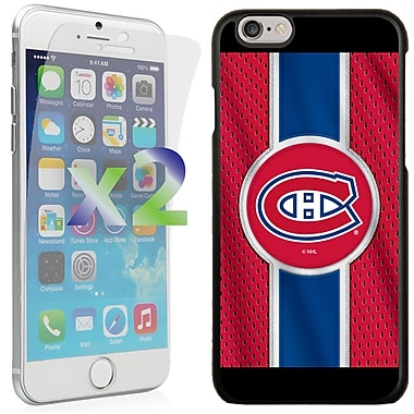 Exian NHL Case for iPhone 6 and Screen Protector, 2 Pieces, Montreal Canadiens