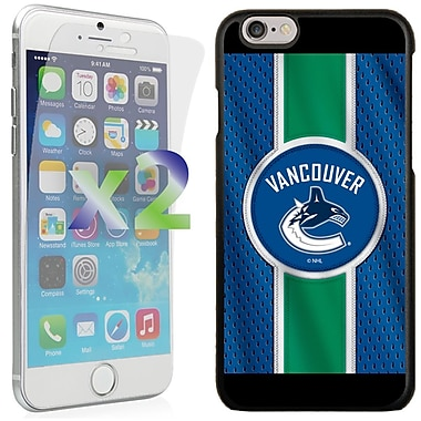 Exian NHL Case for iPhone 6 and Screen Protector, 2 Pieces, Vancouver Canucks