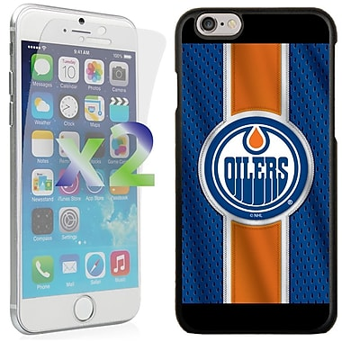 Exian NHL Case for iPhone 6 and Screen Protector, 2 Pieces, Edmonton Oilers