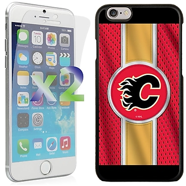 Exian NHL Case for iPhone 6 and Screen Protector, 2 Pieces, Calgary Flames