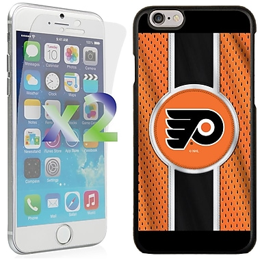 Exian NHL Case for iPhone 6 and Screen Protector, 2 Pieces, Philadelphia Flyers