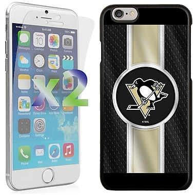 Exian NHL Case for iPhone 6 and Screen Protector, 2 Pieces, Pittsburgh Penguins