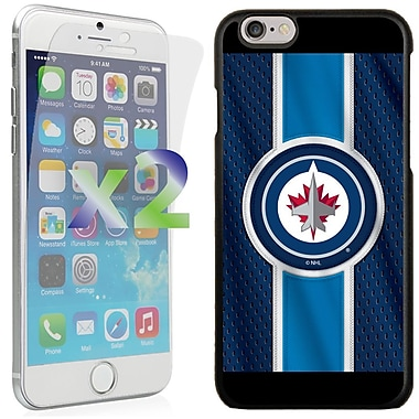Exian NHL Case for iPhone 6 and Screen Protector, 2 Pieces, Winnipeg Jets