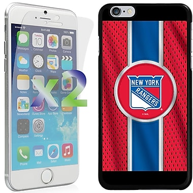 Exian NHL Case for iPhone 6 Plus and Screen Protector, 2 Pieces, New York Rangers