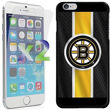 Exian NHL Case for iPhone 6 Plus and Screen Protector, 2 Pieces, Boston Bruins