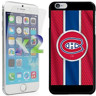 Exian NHL Case for iPhone 6 Plus and Screen Protector, 2 Pieces, Montreal Canadiens