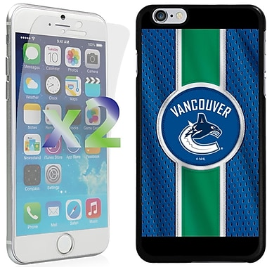 Exian NHL Case for iPhone 6 Plus and Screen Protector, 2 Pieces, Vancouver Canucks
