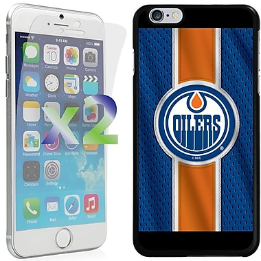 Exian NHL Case for iPhone 6 Plus and Screen Protector, 2 Pieces, Edmonton Oilers