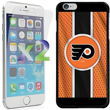 Exian NHL Case for iPhone 6 Plus and Screen Protector, 2 Pieces, Philadelphia Flyers