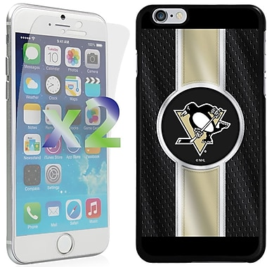 Exian NHL Case for iPhone 6 Plus and Screen Protector, 2 Pieces, Pittsburgh Penguins