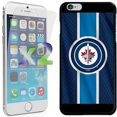 Exian NHL Case for iPhone 6 Plus and Screen Protector, 2 Pieces, Winnipeg Jets